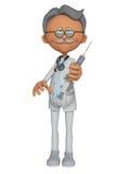 Doctor, inmunización 3d Fotos de archivo