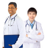 The doctor and the intern. Royalty Free Stock Photo