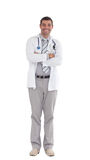 Doctor isolated agains white Royalty Free Stock Photo