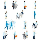 Doctor Isometric Set Royalty Free Stock Photo