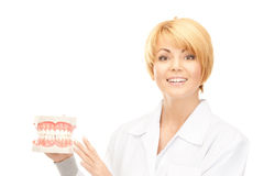 Doctor with jaws Stock Photo