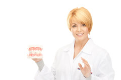 Doctor with jaws Royalty Free Stock Images