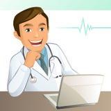 Doctor joven stock de ilustración