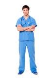 Doctor joven acertado Imagen de archivo libre de regalías