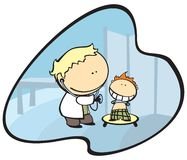 A doctor and a kid Stock Image