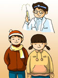 Doctor and kids Stock Photography