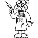 Doctor  kids coloring pages. On this hand drawing illustration you can see some drawing of doctor.. Great picture gor all your needs such a web design, books and Stock Image
