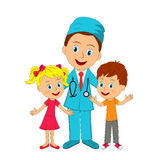 Doctor and kids Royalty Free Stock Photo