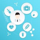 doctor läkarundersökningen vektor illustrationer