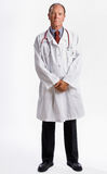 Doctor in lab coat and stethoscope Stock Images