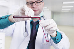 Doctor in a lab Stock Image