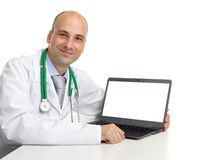 Doctor and laptop Stock Image