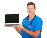Doctor laptop screen Stock Image