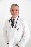 Doctor laughing looking happy Royalty Free Stock Images