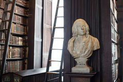 Doctor Lawson bust in Trinity College. John Lawson marble bust in Trinity College Old Library in Dublin, Ireland Royalty Free Stock Photo