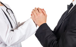 Doctor and lawyer Stock Photo