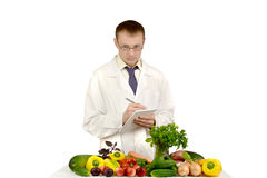 Doctor leads record of vegetables Stock Images
