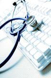 Doctor on-line Stock Photo