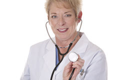 Doctor listening Stock Images