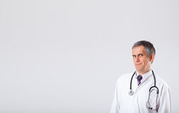 Doctor listening to empty copy space Royalty Free Stock Photo