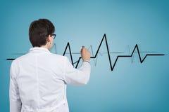 Doctor listens pulse Stock Photo