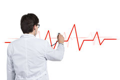 Doctor listens pulse Royalty Free Stock Photo