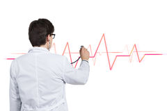 Doctor listens pulse Stock Photography