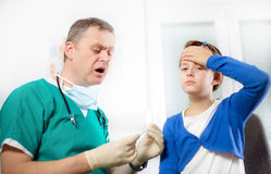 Doctor with little girl Royalty Free Stock Photo