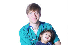 Doctor with little patient Stock Photo