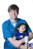 Doctor with little patient Stock Image
