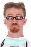 Doctor looking a nose Stock Photos