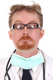 Doctor looking a nose Royalty Free Stock Photo