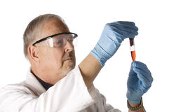 Doctor looking at plasma Royalty Free Stock Photos