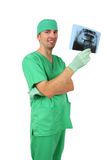 Doctor looking at x-ray Royalty Free Stock Photos