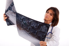 Doctor looking at an x-ray Stock Photography