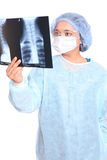Doctor is looking at X-ray Stock Images