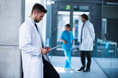 Doctor looking at x-ray in hospital Royalty Free Stock Images