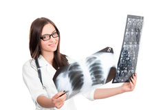 Doctor looking at x-ray Royalty Free Stock Photo
