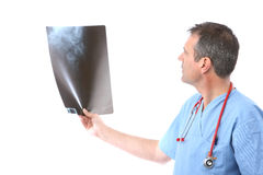 Doctor looking at a xray Stock Photo
