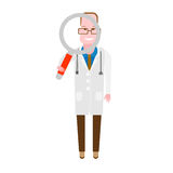 Doctor with a magnifying glass Stock Photo