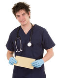 Doctor with mail Stock Images