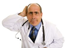 Doctor making a face Stock Images