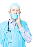 Doctor making a health announcement Stock Image