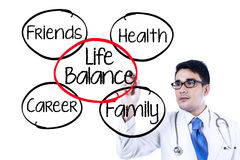 Doctor making life balance concept Stock Images