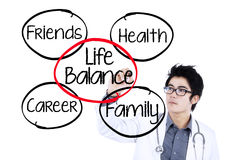Doctor making life balance concept 1 Royalty Free Stock Images