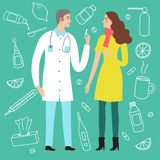 Doctor making vaccination to a woman patient Royalty Free Stock Photo