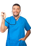 Doctor male holding stethoscope Stock Image