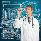 Doctor Male Writing Something Stock Images
