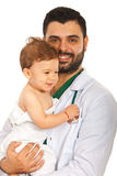 Doctor man with baby Royalty Free Stock Photo