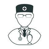 Doctor man black icon Royalty Free Stock Photography